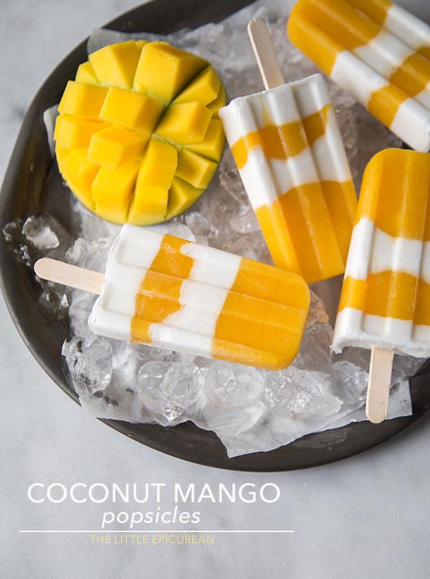 Coconut Mango Popsicles