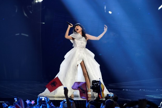 This is Dami Im. She's Australia's entrant at Eurovision.