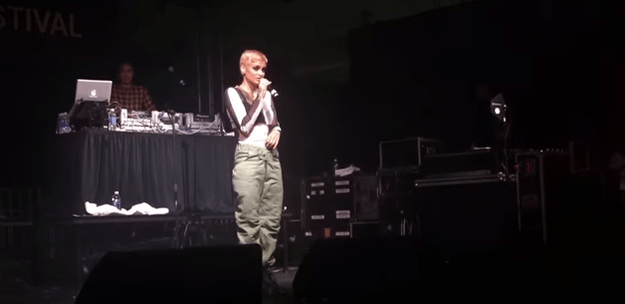 Recently, a fan recorded her speaking about depression, suicide, and mental illness in between songs during a performance.