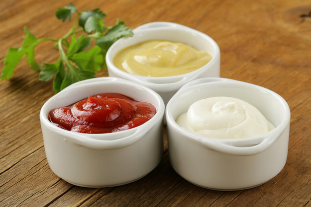 This bowl of mayo costs more than these bowls of ketchup and mustard, even though they all do the exact same job.