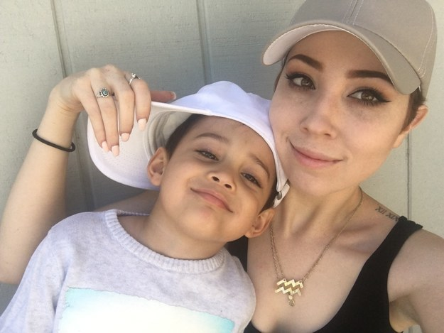 This is Brittaney Benesh and her 4-year-old son, Ayden. They live in Vallejo, California.