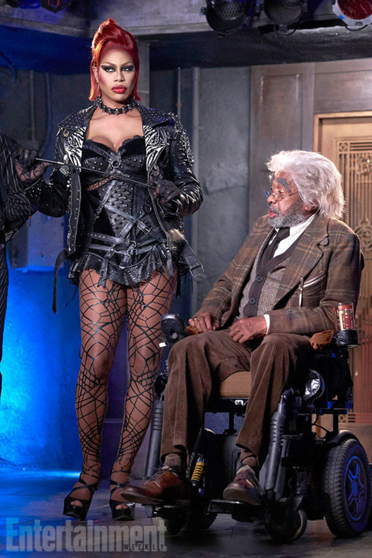 And last week we got our first look at Orange is the New Black's Laverne Cox in the starring role of Dr Frank N. Furter.