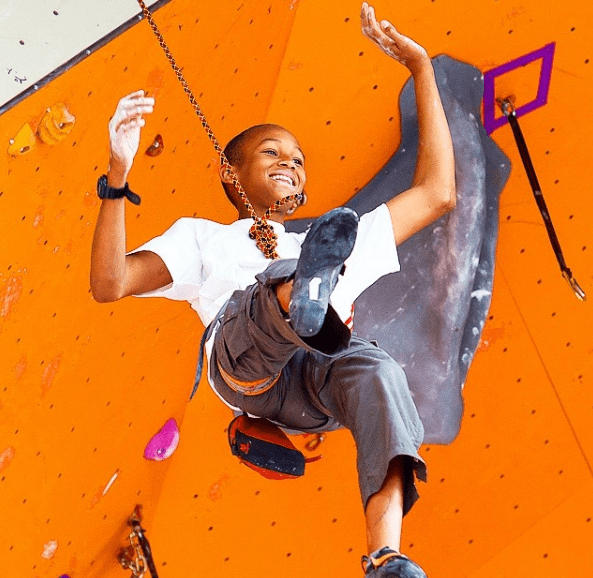 He's been competing since he first discovered indoor climbing at age six.