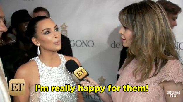 "Kim seemed super enthusiastic about the pregnancy saying, ""It's so exciting. It's a really exciting time for him."""