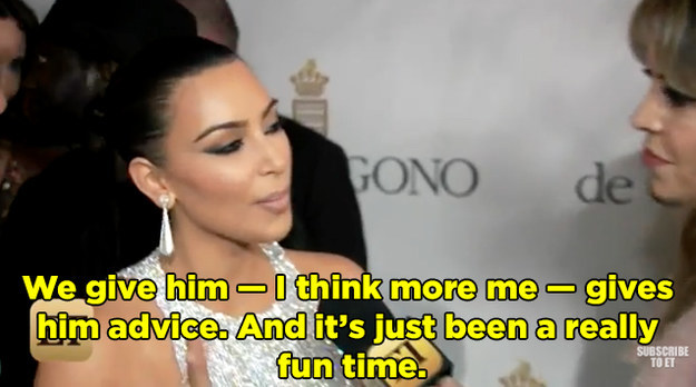 Kim and Kanye have even been sharing some parenting tips with Rob.