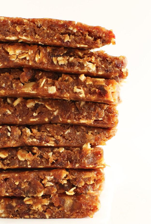 Three Ingredient Peanut Butter Granola Bars