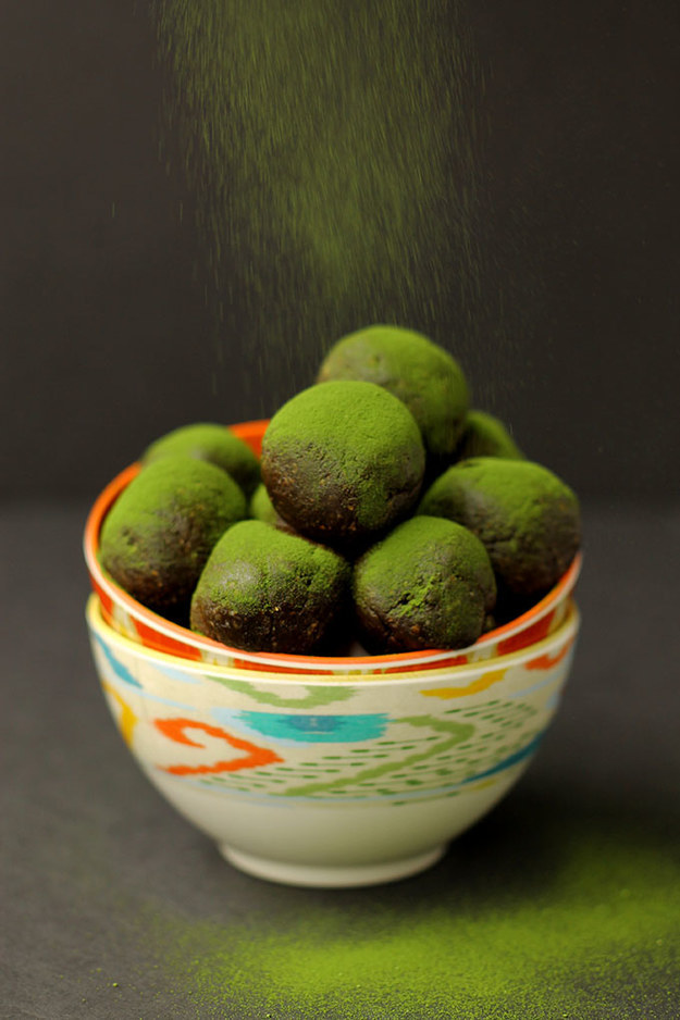 Chocolate Matcha Energy Bites