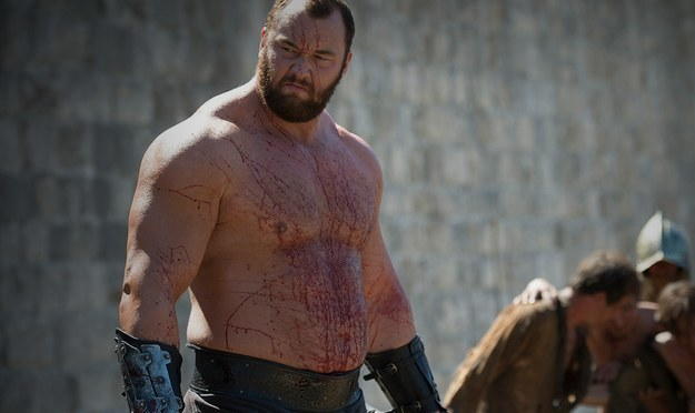 "Hafþór Júlíus Björnsson plays Gregor ""The Mountain"" Clegane on Game off Thrones and he's a very giant man. He's 6'7"" and weighs almost 400 pounds."