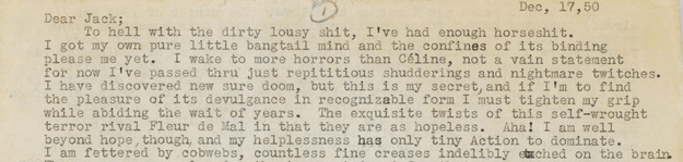 It was written on December 17, 1950, and definitely contains some hilarious phrases.