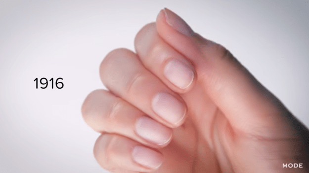 It starts in 1916, when nails were short, simple, and polish-free.