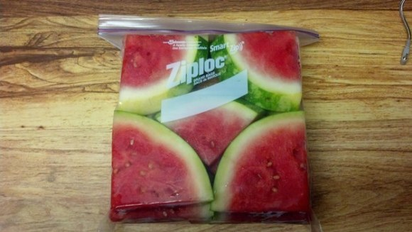 This fitted up watermelon.