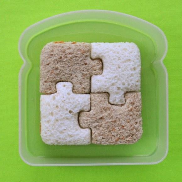 This interlocking sandwich.