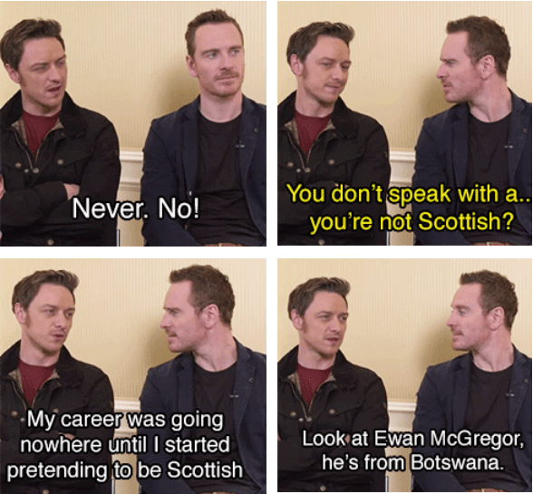 When James tried to trick Michael into thinking he wasn't Scottish.