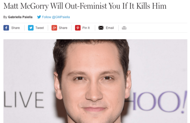 Do highly praised, outspoken celebrity male feminists take the spotlight away from the very people they're trying to help?