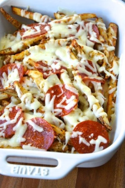 Simple Baked Pizza Fries