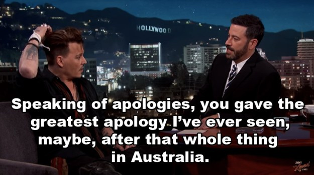 Of course, Kimmel needed to know more, and asked Johnny about how the whole apology unfolded.