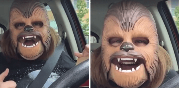 We've all seen the video of 37-year-old Candace Payne being absolutely hysterical after putting on a Chewbacca mask.