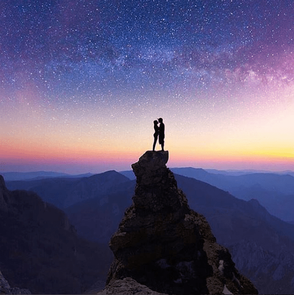 You'll sigh with wanderlust when you see beautiful skies and stars, like these: