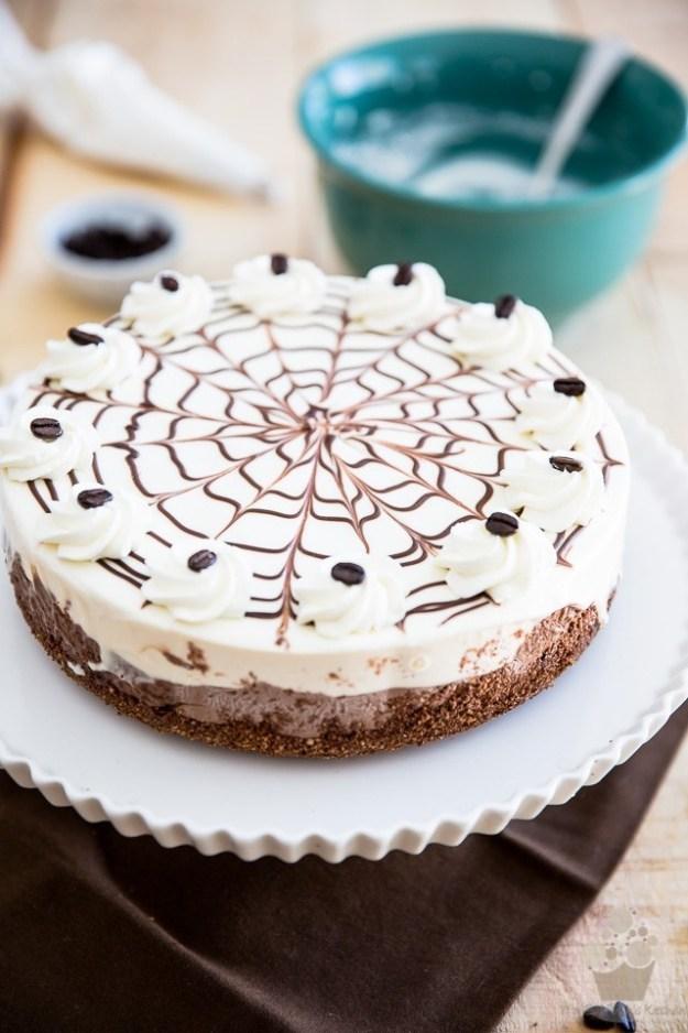 No Bake Chocolate Kahlua Cheesecake