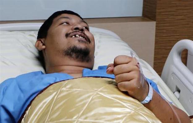 A 38-year-old Thai man is recovering in a hospital after a 10-foot python slid through his home plumbing and chomped on his penis, according to the AP.