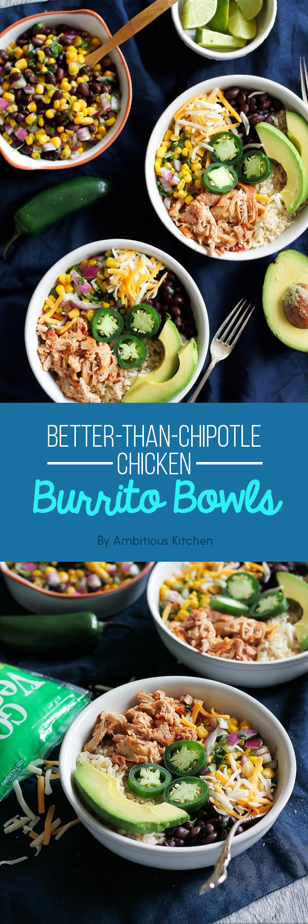 Better-Than-Chipotle Chicken Burrito Bowls