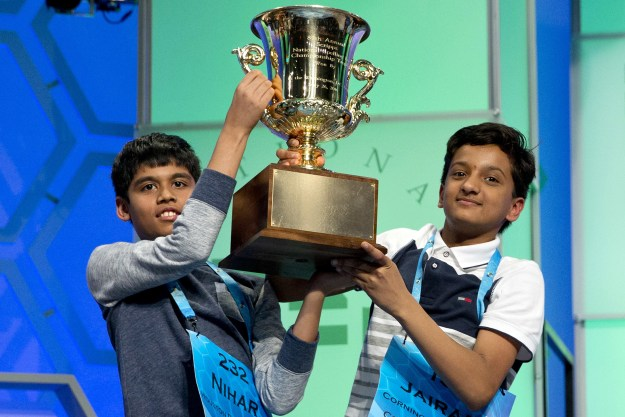 For the third year in a row, the Scripps National Spelling Bee ended in a tie. Nihar Saireddy Janga, an 11-year-old from Austin, Texas, and Jairam Jagadeesh Hathwar, a 13-year-old from Painted Post, New York, were declared co-champions Thursday night.