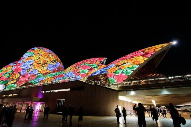 With its white sails, the Opera House in particular makes the perfect backdrop for some of the most incredible projections.
