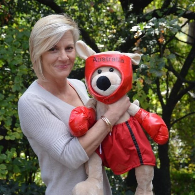 Heinrich's husband gave her a stuffed boxing kangaroo as a momento of the incident.