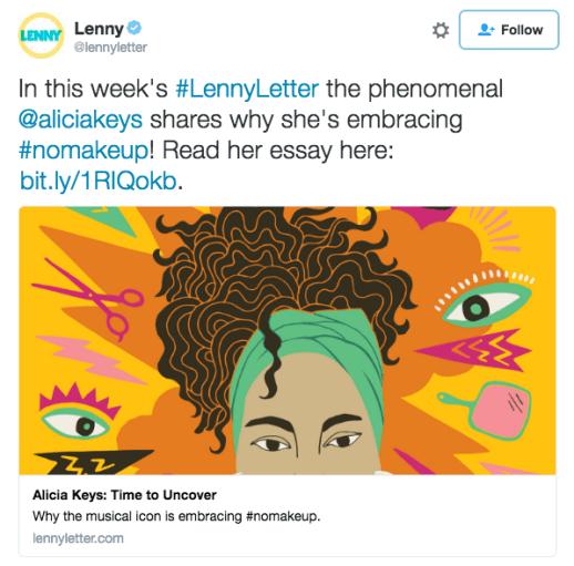 Le 31 mai, dans la dernière «Lenny Letter», la newsletter lancée par Lena Dunham, Alicia Keys a publié un essai dans lequel elle explique qu'elle n'a plus envie de se maquiller. Et, pour elle, c'est un acte de libération.