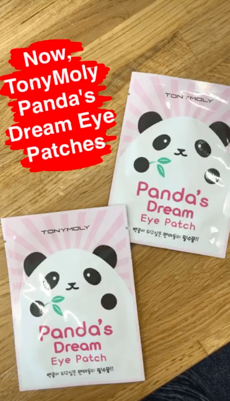 To start, we tried the TONYMOLY Panda's Dream Eye Patches.