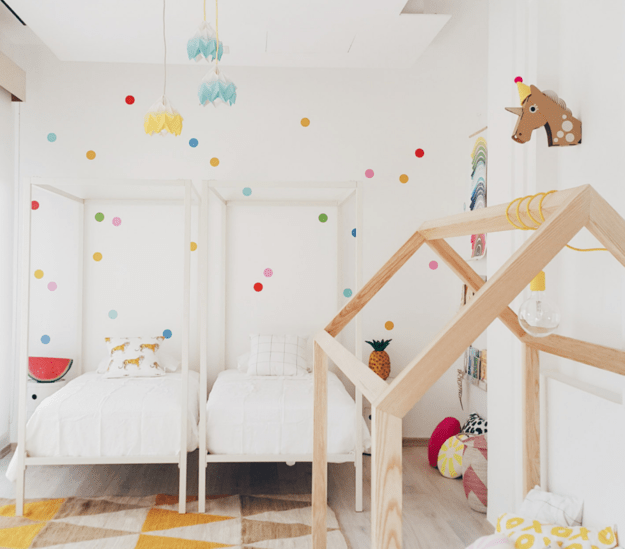 Polka dot decals in every color of the rainbow.