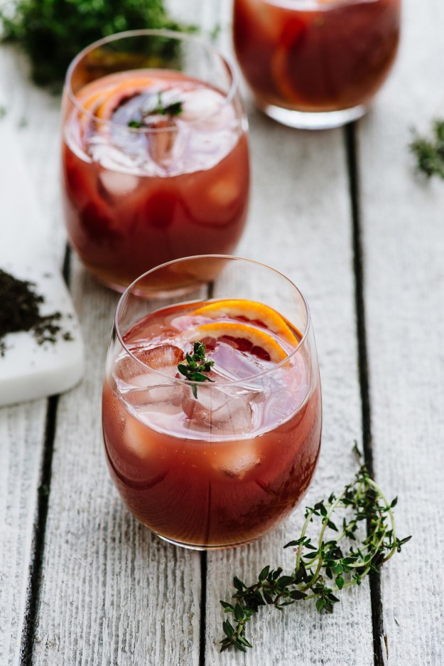 Spiked Blood Orange Tea