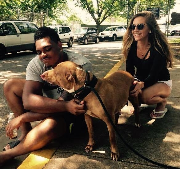 Stanley and his girlfriend met a few dogs. But Stanley fell for a six-year-old dog named Winter, who was found on a vacant property on a hot day with no electricity or open windows.