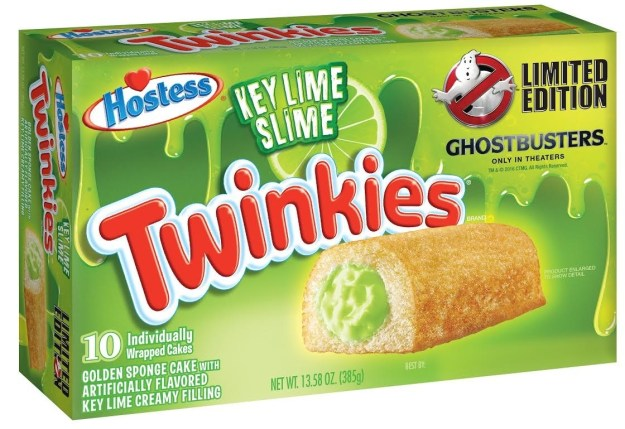 "Hostess announced on Thursday it has teamed up with Sony Pictures to release a Ghostbusters themed Twinkie, complete with green ""slime"" filling."
