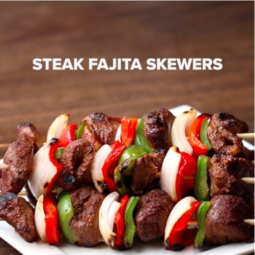 Try the classic skewer... with a twist.