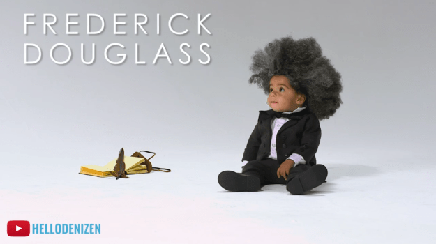 OMG! How about this little guy who was the younger version of Fredrick Douglass.