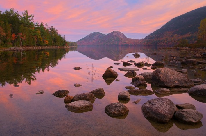 For more mellow vibes, take in Acadia National Park, Maine, for some seriously stunning stillness.