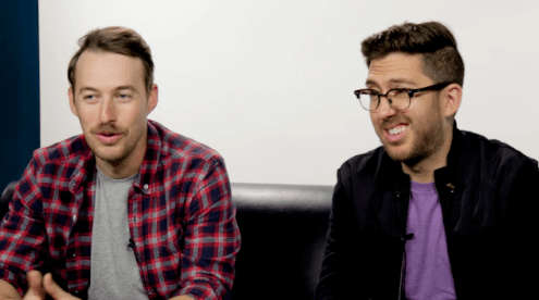 """Jake and Amir were excited to get this experiment underway! They had some concerns, like, """"will the other person understand our jokes most of the time? Maybe not. At the very least we're making each other laugh."""" Which is not the point, but definitely a perk."""