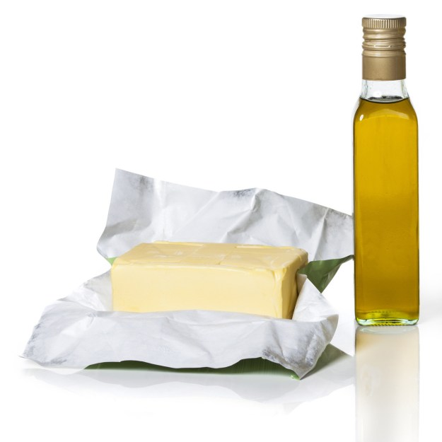 In sauces that call for olive oil, try substituting part of the oil for butter.