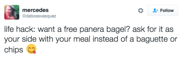 How to get a free bagel. A FREEGAL!