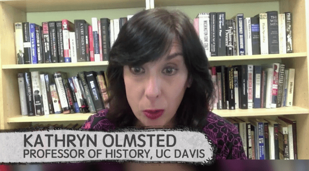 So, we sat down with Kathryn Olmsted, a professor of history at the University of California, Davis. Olmsted explained that the Illuminati has historically been the subject of several conspiracy theories. First, Fascists believed they were Jews, and then, after World War II, extremist anti-Communists believed the Illuminati were Communists.