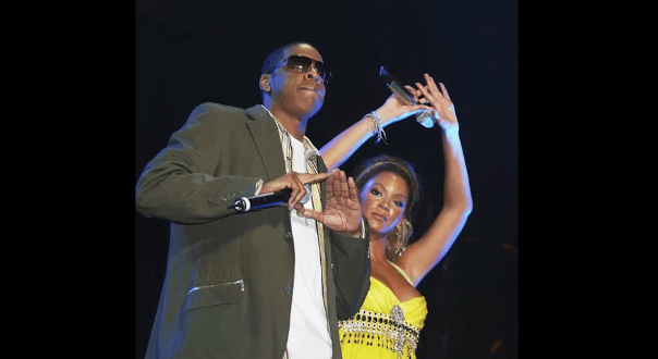 Beyoncé and Jay Z have been known to make a pyramid-like symbol with their hands, though this is also similar to the symbol for Jay Z's label, Roc-A-Fella Records.