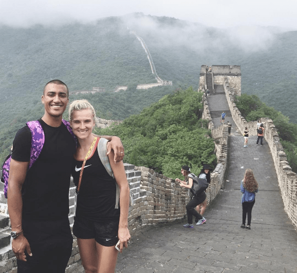 Brianne Theisen-Eaton and Ashton Easton