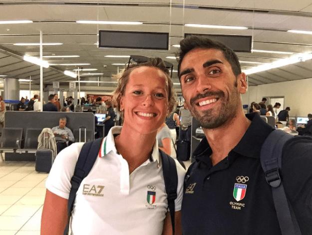 Federica Pellegrini and Filippo Magnini