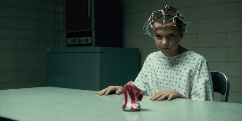 Eleven, from Stranger Things