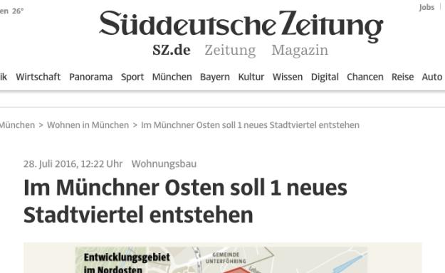 Und bei der Süddeutschen Zeitung so: