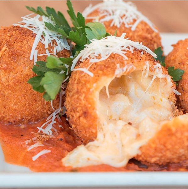 Just a fried mac 'n cheese ball, all gooey and cheesey and...whatever, no big deal.