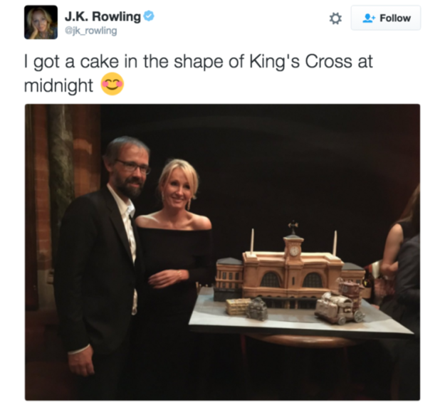 The iconic author obviously celebrated her birthday in style, because she's J.K. Rowling.