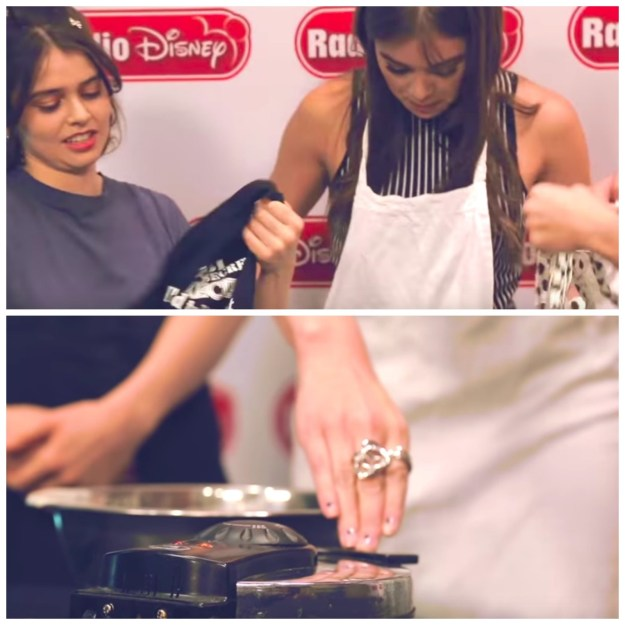 But, in a turn of events, she also ended up making some waffles...