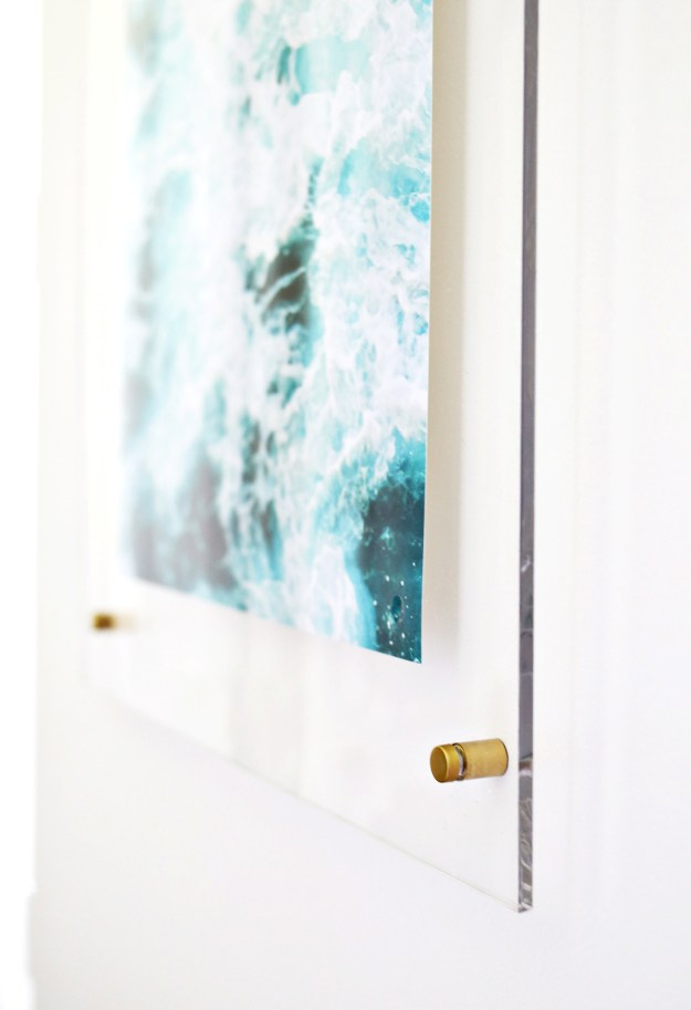 Cover your walls with art displayed in modern ~floating~ frames.